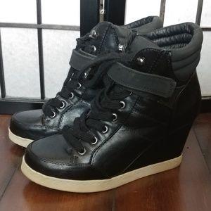 High heel wedge boots/booties